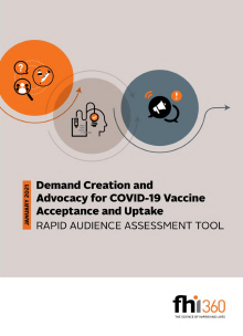 Demand Creation and Advocacy for COVID-19 Vaccine Acceptance and Uptake: Rapid Audience Assessment Tool