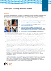 Contraceptive Technology Innovation Initiative (fact sheet)