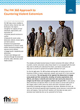The FHI 360 Approach to Countering Violent Extremism (fact sheet)