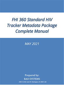 Standard DHIS 2 HIV Tracker Package Manual