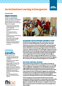Social Emotional Learning in Emergencies (fact sheet)