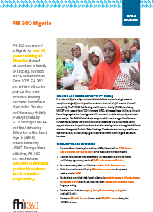 FHI 360 Nigeria - Global Education (fact sheet)