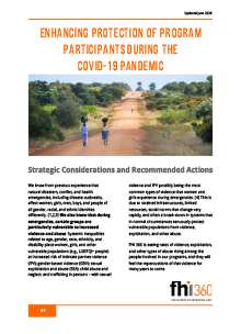 Enhancing Protection of Program Participants During the COVID-19 Pandemic (English)