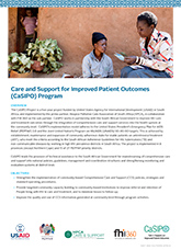 Care and Support for Improved Patient Outcomes (CaSIPO) (fact sheet)