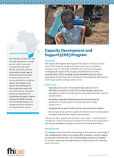 Capacity Development and Support (CDS) (fact sheet)