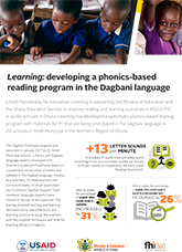 Learning: Developing a Phonics-based Reading Program in the Dagbani Language