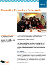 Global Connections: Connecting People for a Better World (brochure)