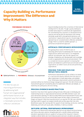 Capacity Building vs. Performance Improvement: The Difference and Why It Matters (fact sheet)