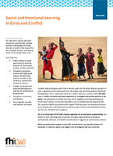 Social and Emotional Learning in Crisis and Conflict (fact sheet)