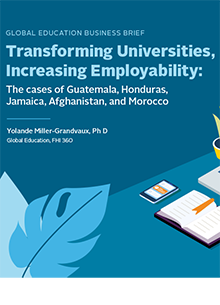 Transforming Universities, Increasing Employability: The Cases of Guatemala, Honduras, Jamaica, Afghanistan, and Morocco