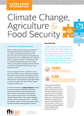 Catalyzing Integration: Climate Change, Agriculture, and Food Security