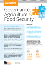 Catalyzing Integration: Governance, Agriculture and Food Security