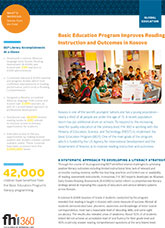Basic Education Program Improves Reading Instruction and Outcomes in Kosovo
