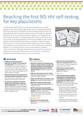 Reaching the First 90: HIV Self-testing for Key Populations