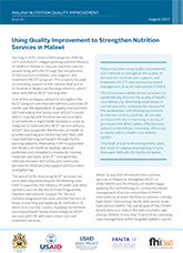 Brief 1: Using Quality Improvement to Strengthen Nutrition Services in Malawi (2017)