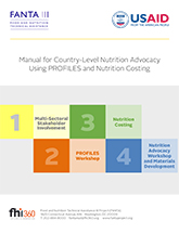 Manual for Country-Level Nutrition Advocacy Using PROFILES and Nutrition Costing