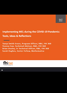 Implementing MEL During COVID-19: Thoughts, Ideas and Reflections