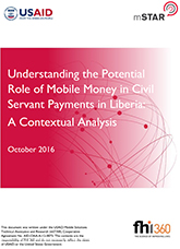 Understanding the Potential Role of Mobile Money in Civil Servant Payments in Liberia: A Contextual Analysis