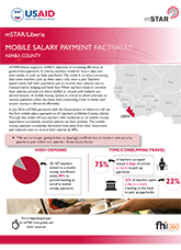 mSTAR/Liberia Mobile Salary Payment Factsheet