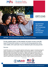 OPTIONS — Optimizing Prevention Technology Introduction on Schedule (fact sheet)