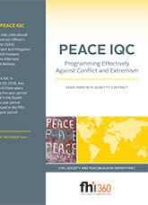PEACE IQC: Programming Effectively Against Conflict and Extremism