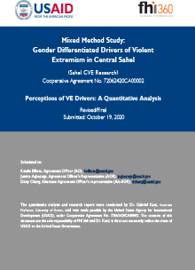 Perceptions of VE Drivers: A Quantitative Analysis