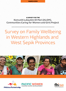 Survey on Family Wellbeing in Western Highlands and West Sepik Provinces