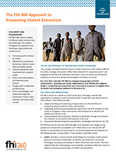 The FHI 360 Approach to Preventing Violent Extremism (fact sheet)
