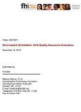 Sino-implant (II) Initiative: 2016 Quality Assurance Evaluation