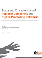 Status and Characteristics of Regional Democracy and Rights-Promoting Networks