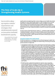 The Role of Scale-Up in Strengthening Health Systems