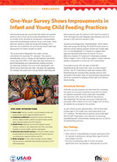 One-Year Survey Shows Improvements in Infant and Young Child Feeding Practices