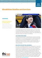 Disabilities Studies and Services