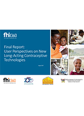 User Perspectives on New Long-acting Contraceptive Technologies - Final Report