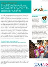 Small Doable Actions: A Feasible Approach to Behavior Change (learning brief)