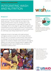 Small Doable Actions: Integrating WASH and Nutrition (learning brief)