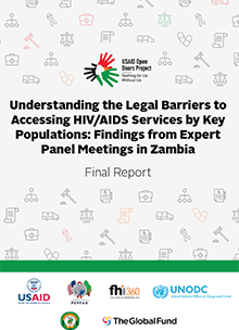 Understanding the Legal Barriers to Accessing HIV/AIDS Services by Key Populations: ... Expert Panel ... Zambia, Final Report