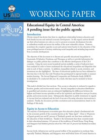 Education Equity in Central America