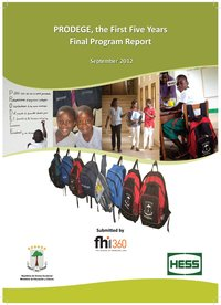 PRODEGE, the First Five Years: Final Program Report