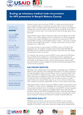 Scaling Up Voluntary Medical Male Circumcision for HIV Prevention in Kenya's Nakuru County