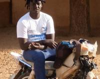Galo Cissé, motorbike taxi driver, Linguère health district, Senegal