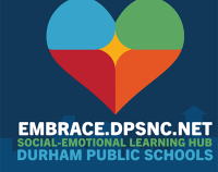 multicolored heart for Durham Public Schools