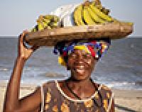 Woman selling bananas