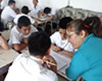 students in class in El Salvador