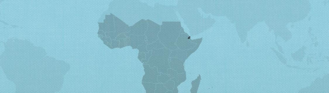 Djibouti on map