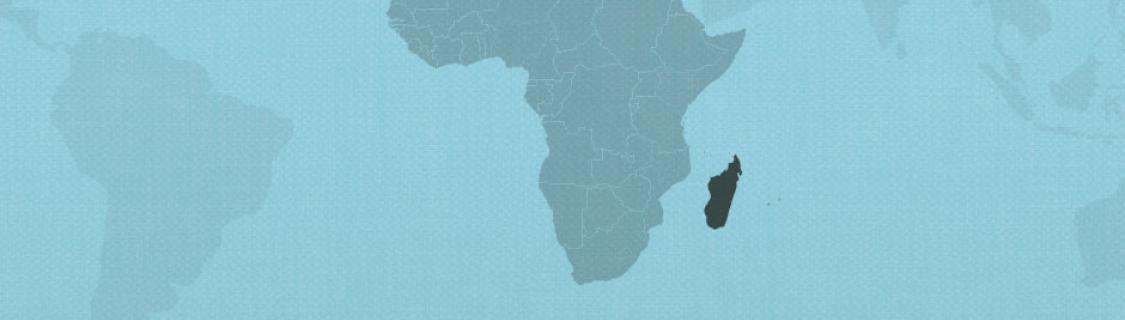 Madagascar on map