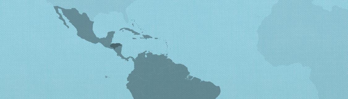 Honduras on map