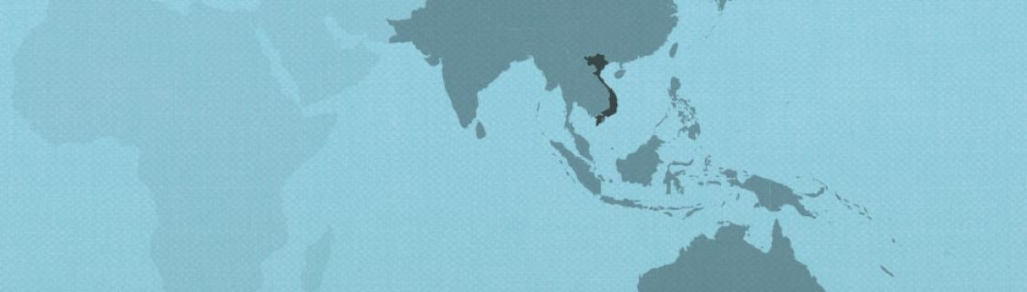 Vietnam on map