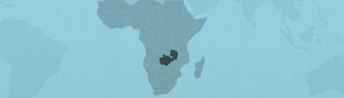Zambia on map