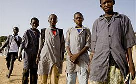 portrait of young boys in Senegal